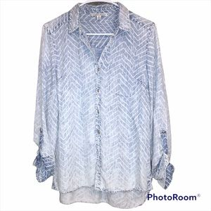 Tribal Jeans | Faded Denim Button Up Shirt - XS